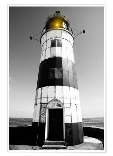 Póster Striped lighthouse