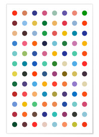 Póster  Puntos de colores - THE USUAL DESIGNERS