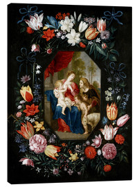 Lienzo  The Virgin Mary and the Christ Child - Jan Brueghel d.J.