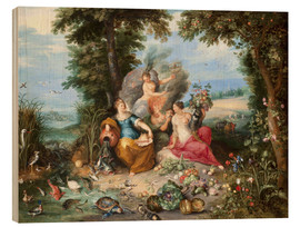 Cuadro de madera  The four elements - Jan Brueghel d.J.