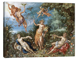 Lienzo  The four elements - Jan Brueghel d.Ä.