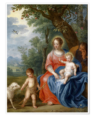Póster The Holy Family with John