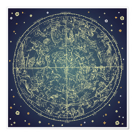 Póster  star map