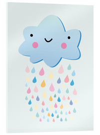 Cuadro de metacrilato  Happy little cloud - Kidz Collection