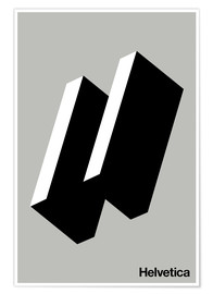 Póster  HAPPY HELVETICA - THE USUAL DESIGNERS