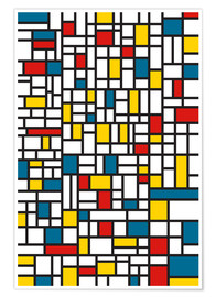 Póster  Mondrian extremes - THE USUAL DESIGNERS