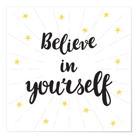Póster  Believe in yourself! - Typobox