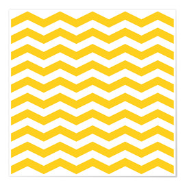 Póster  Yellow zigzag