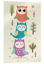 Cuadro de metacrilato  Three owls - Kidz Collection