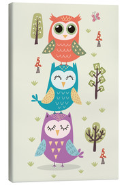 Lienzo  Three owls - Kidz Collection