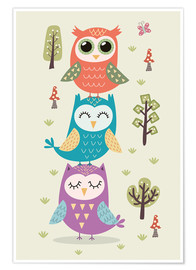 Póster  Three owls - Kidz Collection
