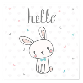 Póster  Hello Bunny - Kidz Collection