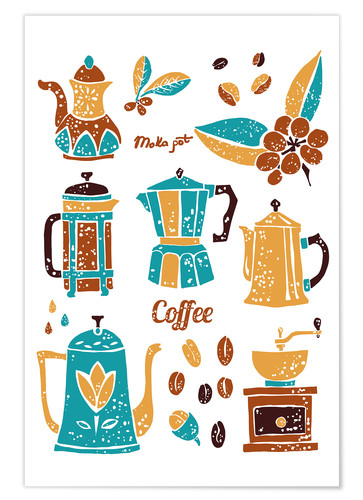 Póster Coffee Collection