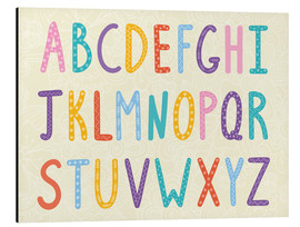 Aluminio-Dibond  Colorful ABC letters - Typobox