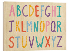 Cuadro de madera  Colorful ABC letters - Typobox