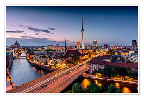 Póster Berlin | Nightfall in the capital town