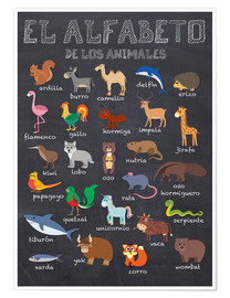 Póster  Alfabeto de los Animales - Español - Kidz Collection
