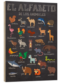 Madera  Alfabeto de los Animales - Español - Kidz Collection