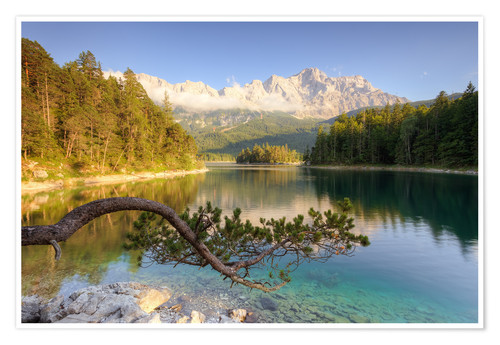Póster At the Eibsee in Bavaria