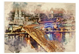 Cuadro de PVC  Cologne Skyline Cologne Cathedral - Peter Roder