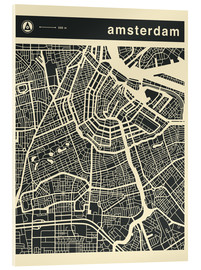 Cuadro de metacrilato  AMSTERDAM CITY MAP - Jazzberry Blue