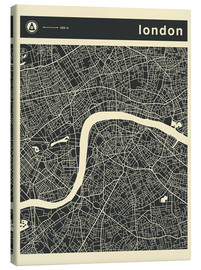 Lienzo  LONDON CITY MAP - Jazzberry Blue