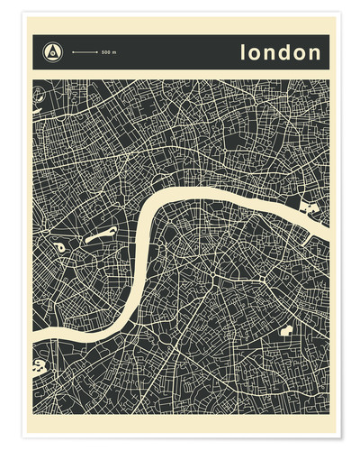 Póster LONDON CITY MAP