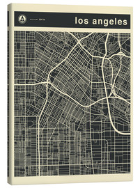 Lienzo  Los Angeles City map - Jazzberry Blue