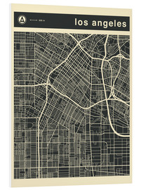 Cuadro de PVC  Los Angeles City map - Jazzberry Blue