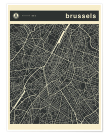 Póster BRUSSELS CITY MAP