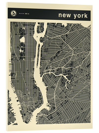 Cuadro de metacrilato  NEW YORK CITY MAP - Jazzberry Blue