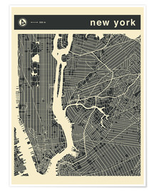 Póster NEW YORK CITY MAP