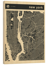 Cuadro de madera  NEW YORK CITY MAP - Jazzberry Blue