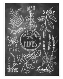 Póster  30743 Herbs - Lily & Val