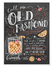 Póster  Receta de old fashioned (inglés) - Lily & Val