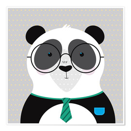 Póster Panda with Glasses