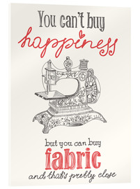Cuadro de metacrilato  Sewing is happiness - Typobox
