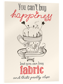 Cuadro de metacrilato  Fabric Happiness - Typobox