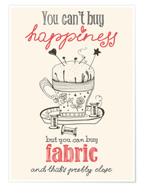 Póster Fabric Happiness