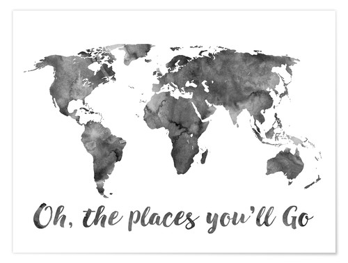 Póster Oh, the places you´ll go