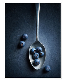 Póster  Blueberries Still Life top view - Johan Swanepoel