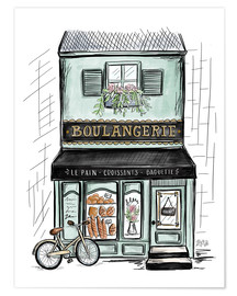 Póster  French Shop Front - Boulangerie - Lily & Val