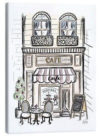 Lienzo  French Shop Front - Café - Lily & Val