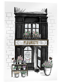 Metacrilato  French Shop Front - Fleuriste - Lily & Val