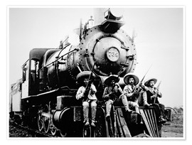 Póster Mexican Revolutionaries Take Over a Locomotive at Cuernavaca