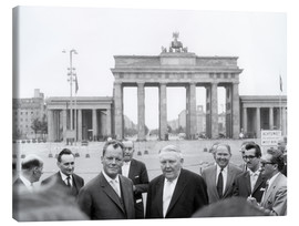 Lienzo  Ludwig Erhard and Willy Brandt
