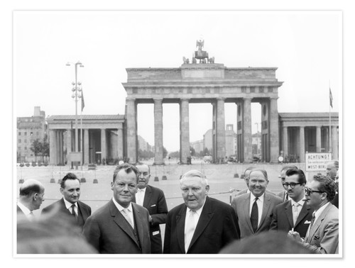 Póster Ludwig Erhard and Willy Brandt