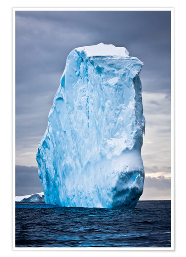 Póster Antarctic iceberg in the snow