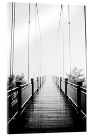 Metacrilato  Wooden bridge in fog