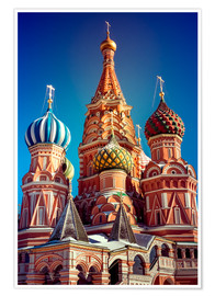 Póster St. Basil's Cathedral, Russia